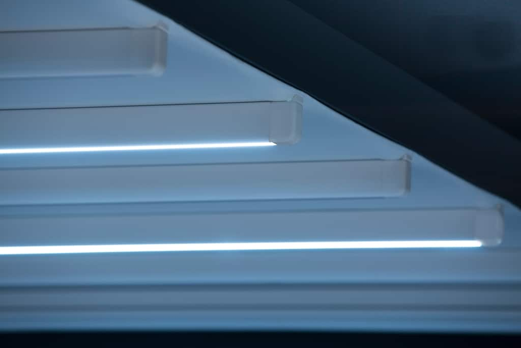 Nomo LED 01 a | Schiebemarkise LED-Beleuchtung auf Markisentuchträgern, LED-Stripes, blau | Svoboda