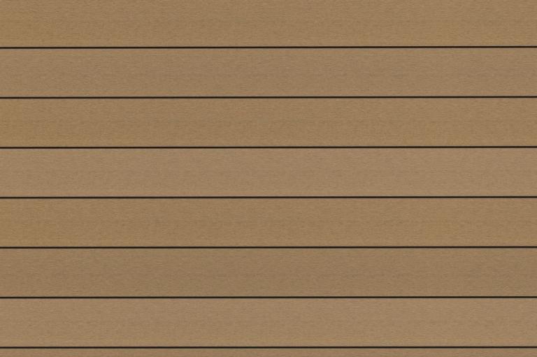 Fano WPC 25 | Musterbild Bernstein glatt | Bodenbelag für den Außenbereich in braun | Svoboda