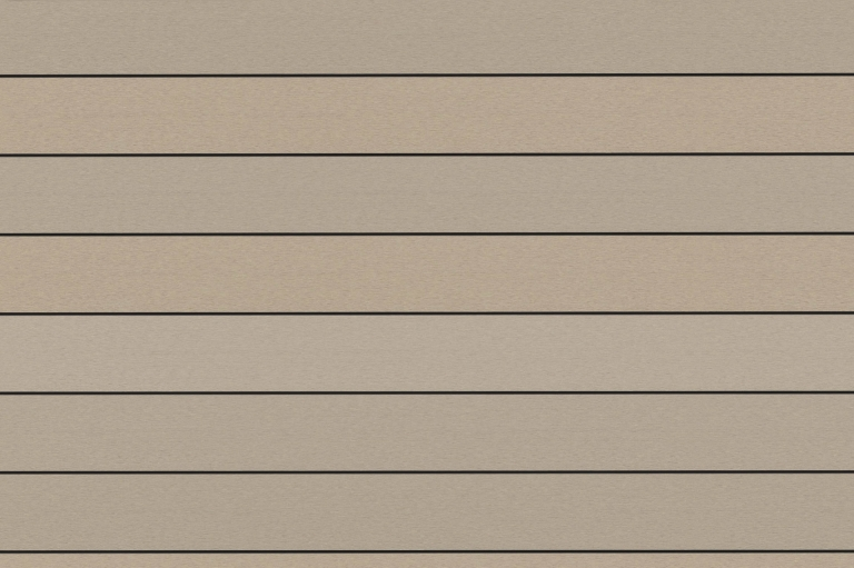 Fano WPC 25 | Musterbild Elfenbein glatt | Outdoor-Bodenbelag aus WPC in hellbraun | Svoboda