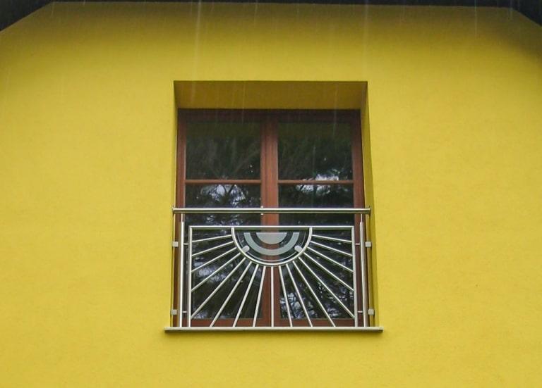 Heidelberg 01 | Französisches Geländer, Niro-Sonnendekor mit Stab-Strahlen, Glas-Sonne | Svoboda
