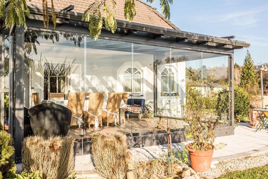 Schiebe 03 b | Sommergarten-Schutz-Verglasung gegen Wind und Regen, Schiebesystem | Svoboda