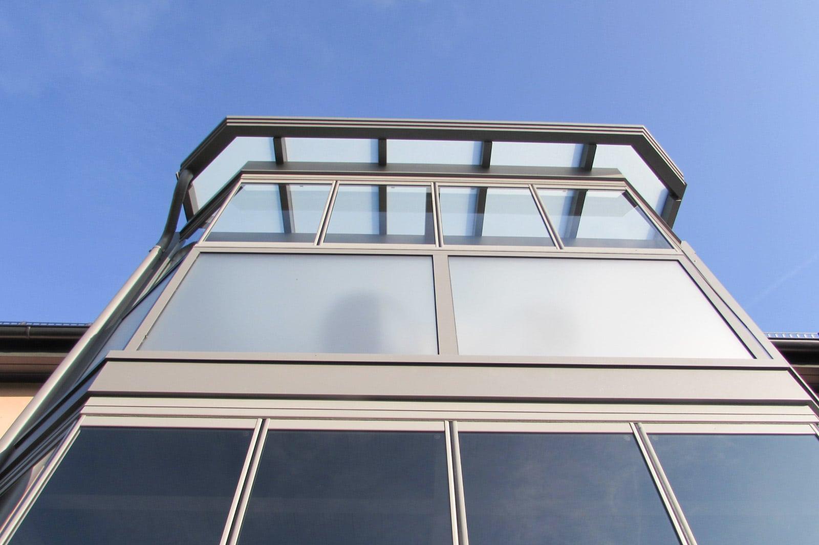Sommergarten Alu 15 c | Sommergartenzubau zweistöckig, Fixverglasung & öffenbare Elemente | Svoboda