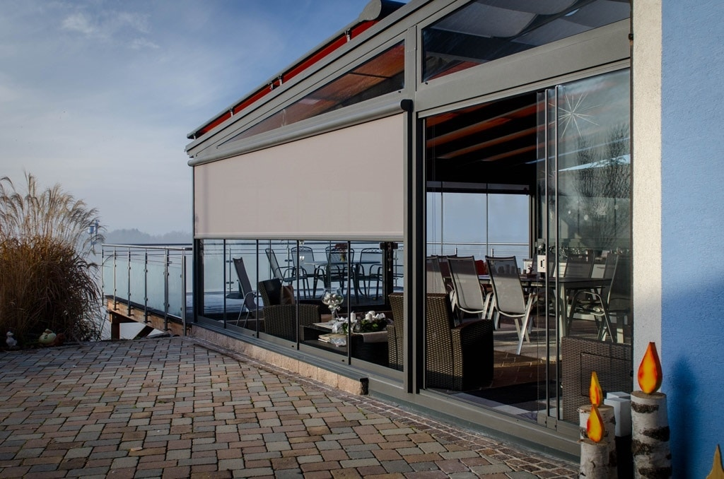 Sommergartn Alu 25 b | Komplett verglaste Gastronomie Terrassenüberdachung mit Markise | Svoboda