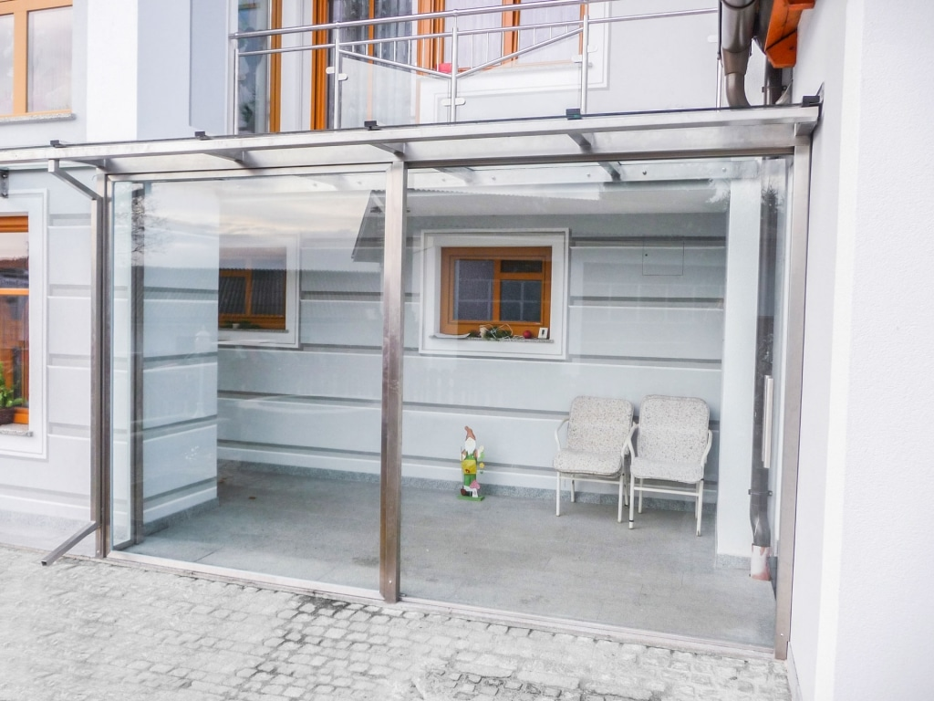 Sommergarten Niro 01 a | komplett verglaste Terrassenüberdachung aus Nirosta | Svoboda Metalltechnik