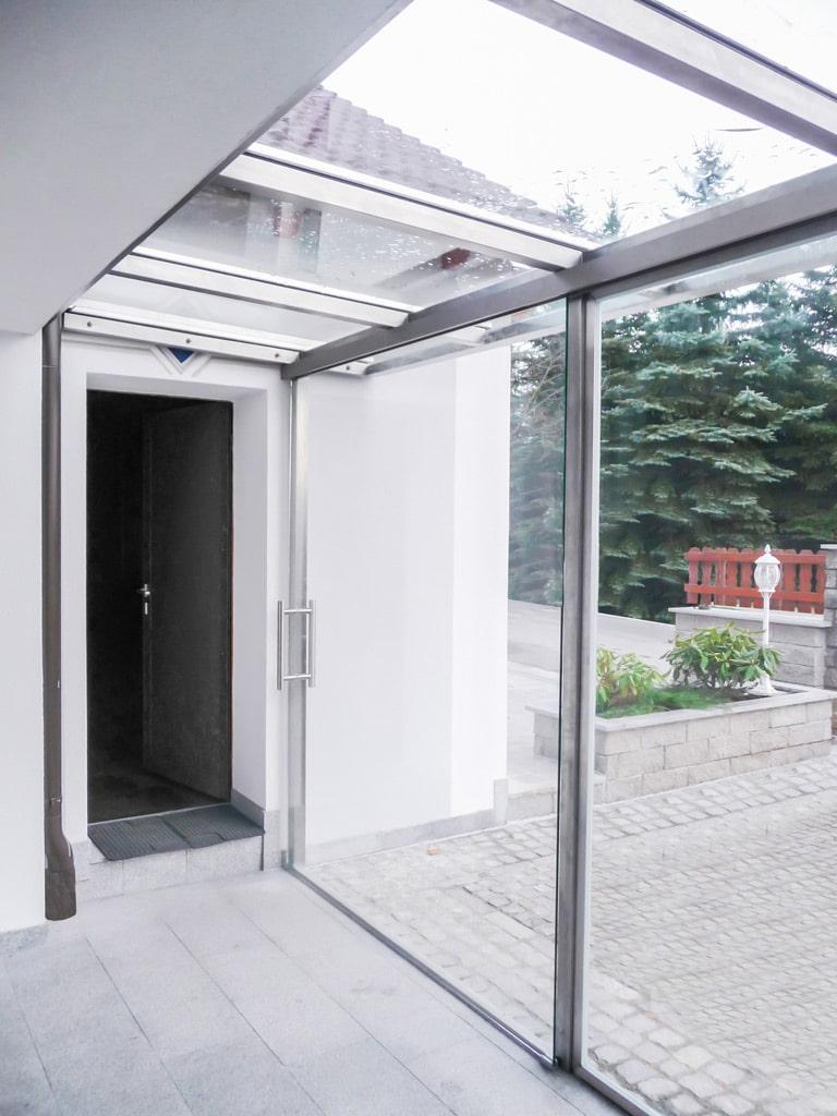 Sommergarten Niro 01 b | Edelstahl-Sommergarten an Haus angebaut, Ganzglas | Svoboda Metalltechnik