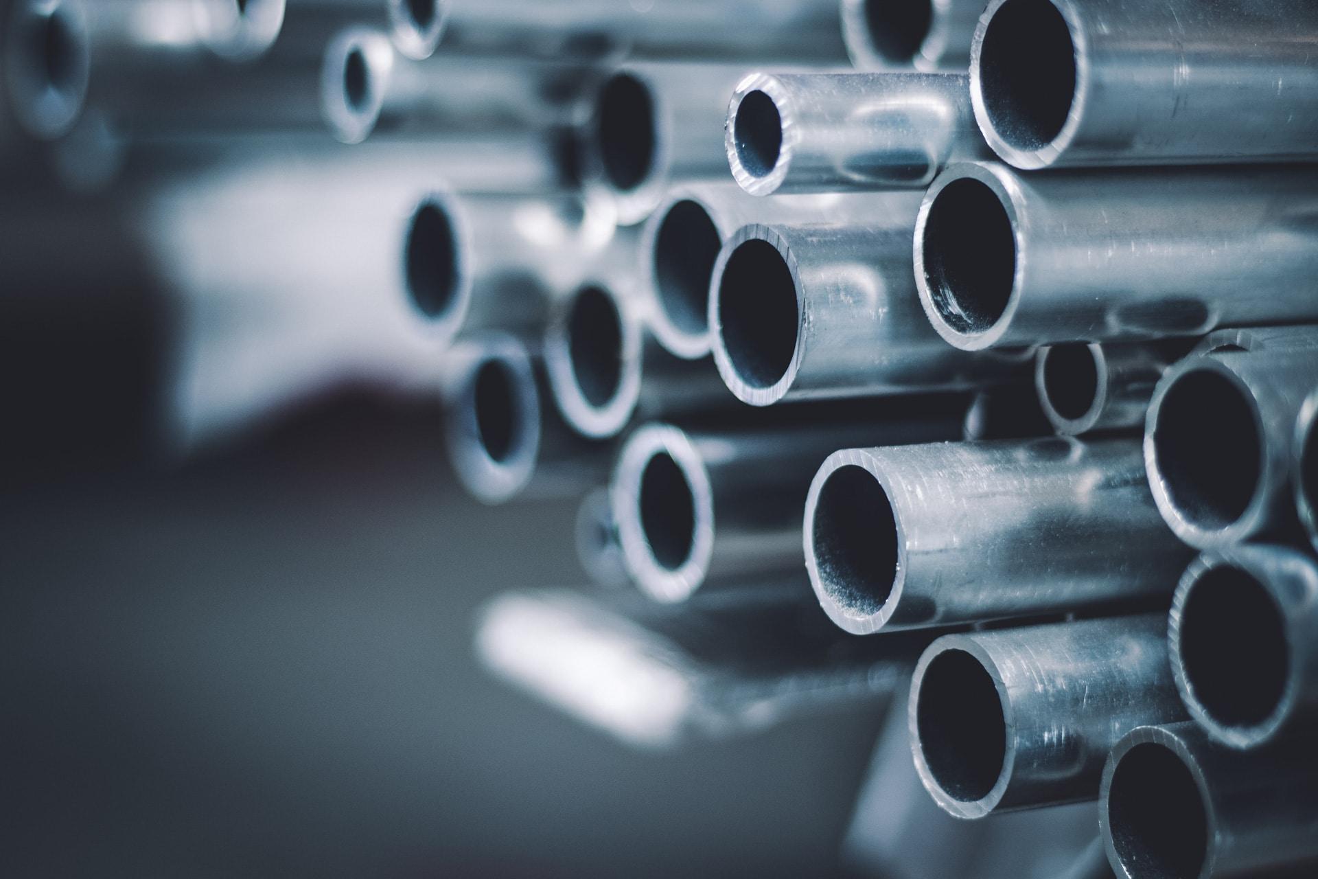 Nahaufnahme Aluminium-Rohre | Svoboda Metalltechnik