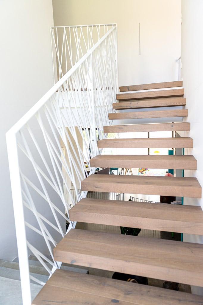 Sonder 03 g | Architektur Design Geländer innen modern als Stiegengeländer aus Stäben | Svoboda