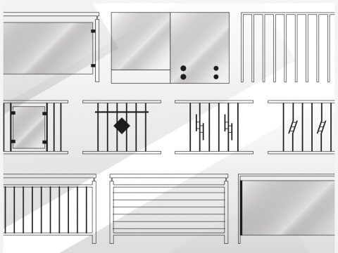 Grafik | Innengeländer-Modelle Sammlung | Svoboda Metalltechnik