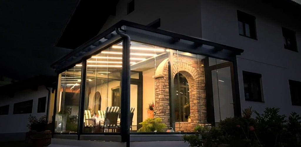 Sommergarten Alu 46 c | LED-Lichtstreifen Beleuchtung in Dach-Sparren, LED-Stripes | Svoboda